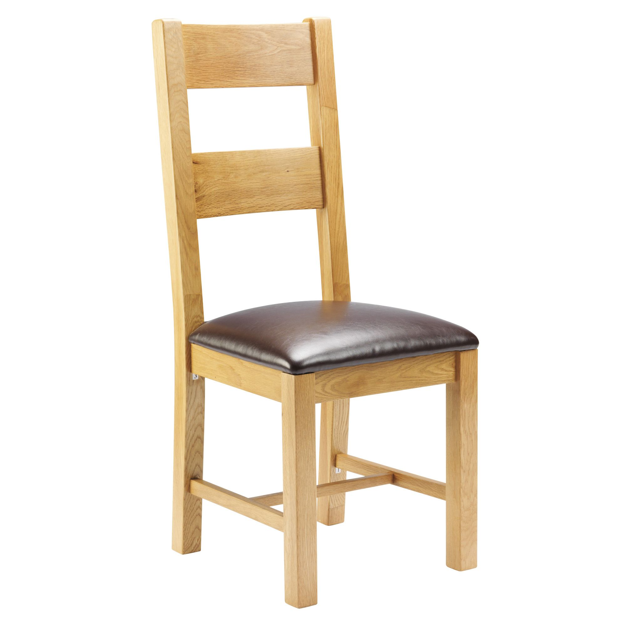 Thorndon Taunton Dining Chair with PU Seat in Medium Oak