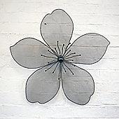 Large Decorative 3D Black Finish Metal Flower Garden Wall Art