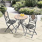 Rocca Broken Tiles Mosaic Cast Iron Bistro Set