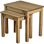 Panama Nest Of 2 Tables - Solid Pine with a Natural Wax