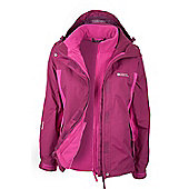 Storm 3 in 1 Womens Waterproof Jacket - Pink