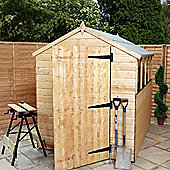 Mercia Garden Products Shiplap OSB Apex Storage Shed with Large Door