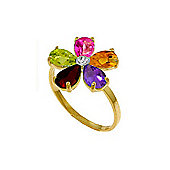 QP Jewellers 2.20ct Gemstone Foliole Ring in 14K Gold