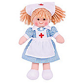 Bigjigs Toys 28cm Doll BJD011 Nurse Nancy