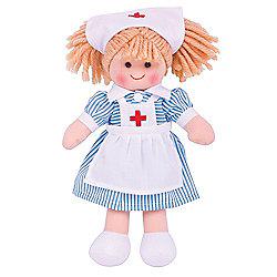 Bigjigs Toys 28cm Doll BJD011 Nurse Nancy
