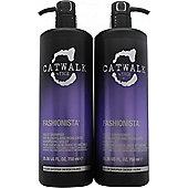 Tigi Catwalk Fashionista Violet DUO 750ml Shampoo + 750ml Conditioner