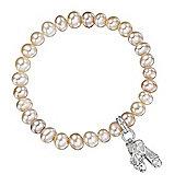 Jo For Girls Pink Pearl Ballet Charm Bracelet
