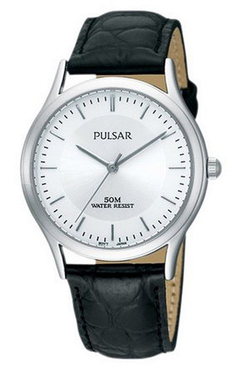 Pulsar Gents Leather Strap Watch PRS649X1