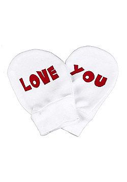Spoilt Rotten - Love You 100% Organic Cotton Scratch Mittens