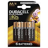 Duracell Plus 6 Pack AA Batteries