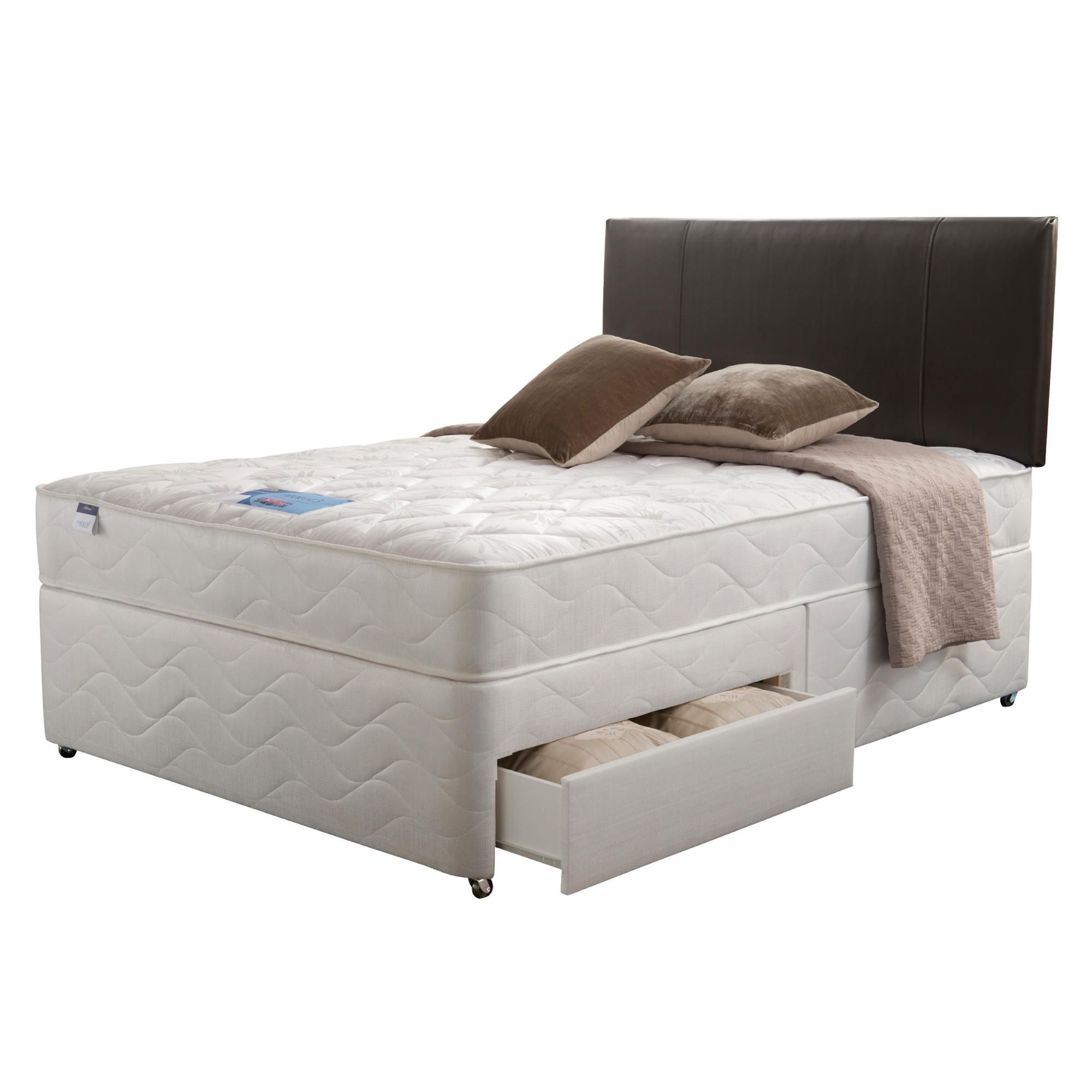 Silentnight Miracoil Kingston Double 4 Drawer Divan set at Tesco Direct