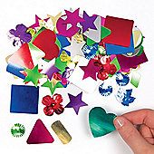 Giant Spangles in Assorted Shapes Creative Set for Children to Decorate Personalise and Embellish Arts & Crafts (Bag of 100g)