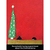 Holy Mackerel Christmas bonus Greetings Card