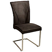 Dan-Form Cosmo Dining Chair (Set of 2) - Black Suede