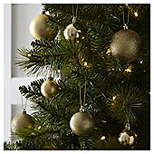 Mixed Gold Christmas Baubles, 40 pack