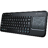 Logitech K400 Wireless Touch Keyboard - Black