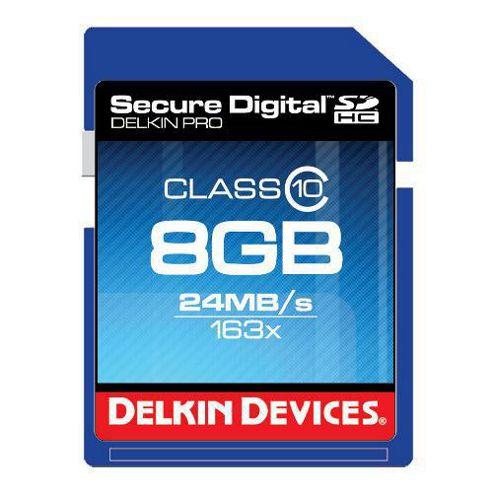 Delkin DDSDPRO3-8GB SD Pro Memory Card SDHC 163x