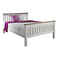 Homestead Living Devon Bed Frame I - White - Single (3')