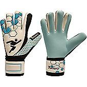 Precision Gk Matrix Aqua Neg Finger Protection Goalkeeper Gloves Size - White