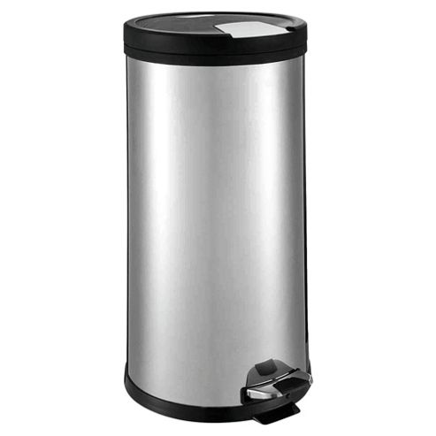 Tesco 30L Stainless Steel Pedal Bin