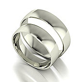 9ct White Gold 5mm Court Wedding Band