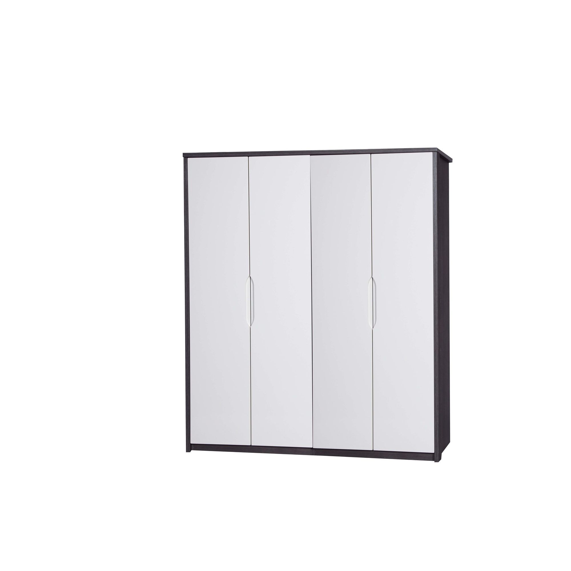 Alto Furniture Avola 4 Door Wardrobe - Grey Avola Carcass With Cream Gloss at Tesco Direct