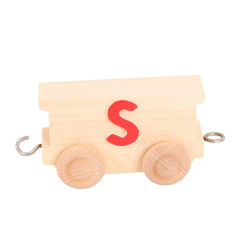 Bigjigs Toys BJ201S Name Train Letter S