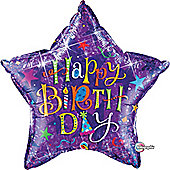 36' Birthday Typography Purple (each)