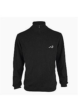 Woodworm Golf Half Zip Sweater Black 2Xl