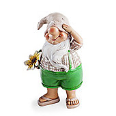 Elliot the Summertime Garden Gnome Ornament in Flip-flops