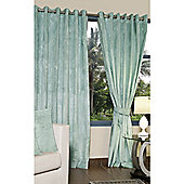 KLiving Eyelet Verbier Lined Curtain 45x90 Duck Egg