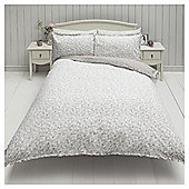 Ditsy Floral Double Duvet Set With Fril,l Neutral - Natural