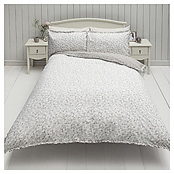 Ditsy Floral Single Duvet Set With Fril,l Neutral