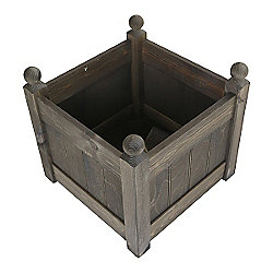 15'' Clarence Classic Oak Planter Trough with 2 Plastic Liners