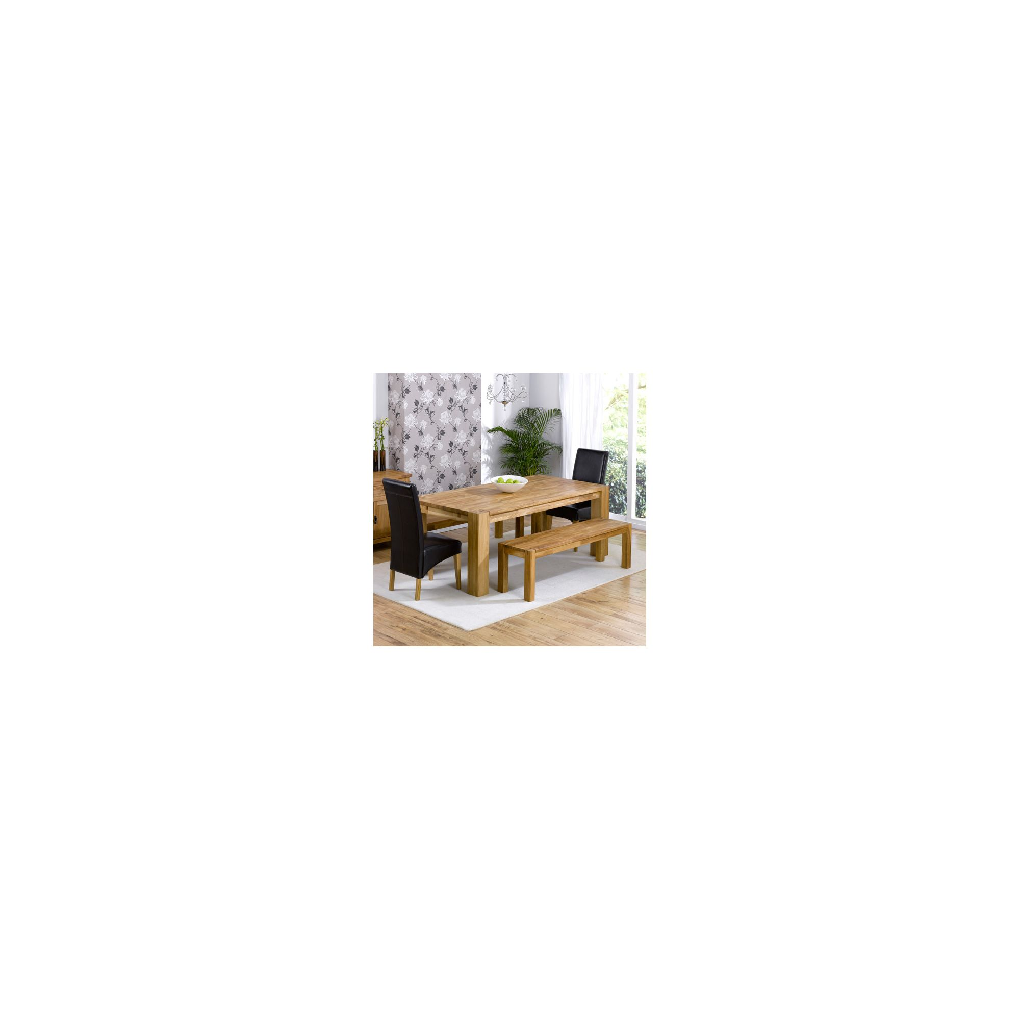 Mark Harris Furniture Madrid Chunky Solid Oak Dining Table with Roma Chairs and Barcelona Dining Bench