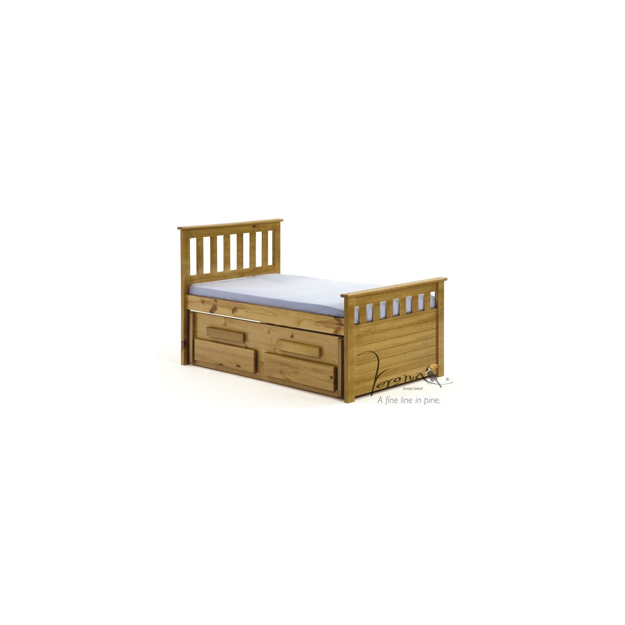 Verona Bergamo Kids Captains Bed with guest bed - Antique at Tesco Direct
