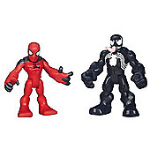 Playskool Super Hero Adventures Scarlet Spider-Man and Venom