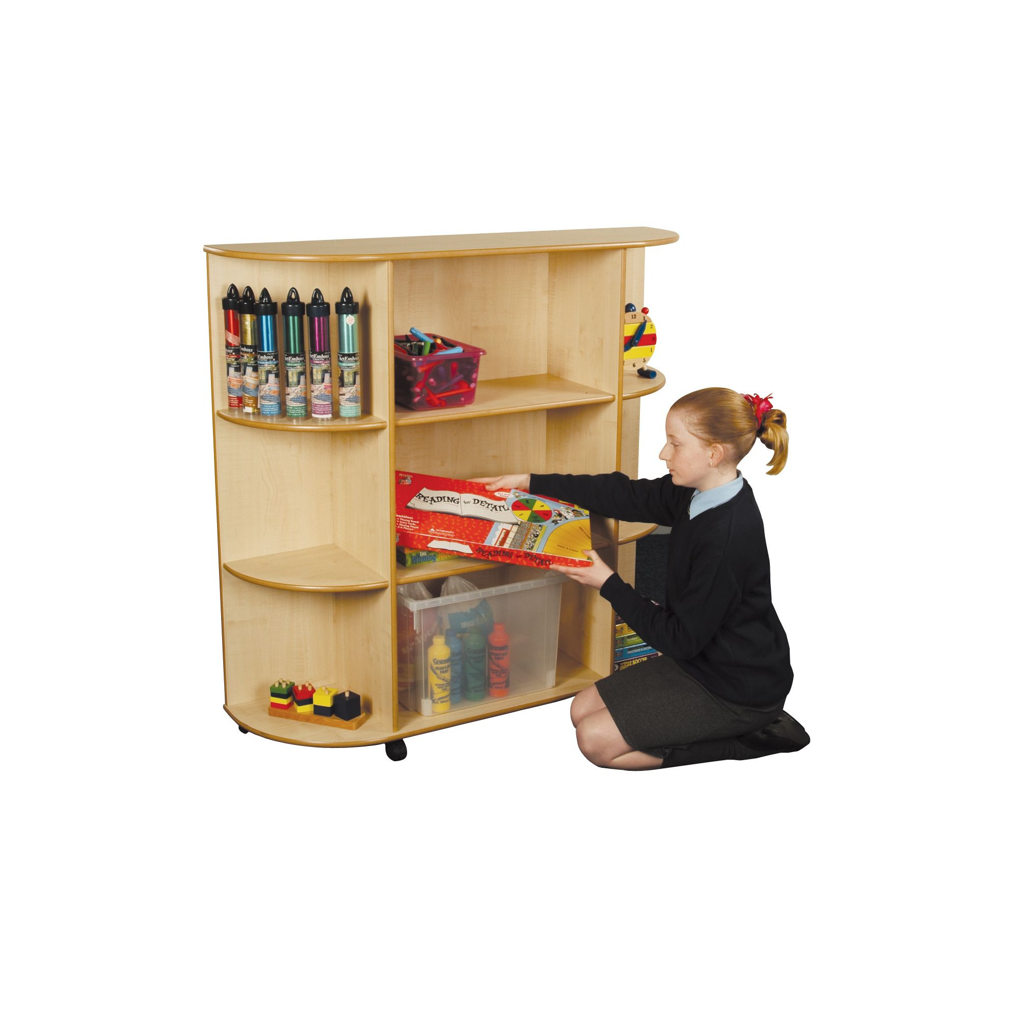 Liberty House Toys Maple 3 Shelf Integral Corner Bookcase at Tesco Direct