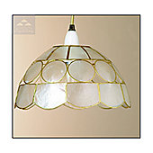 Loxton Lighting Shell Budget Dollar Shade in Natural