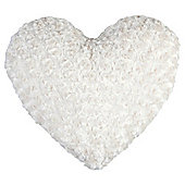Tesco Rose Faux Fur Heart Cushion