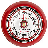 Eddington 850091 Retro Magnetic Timer Red