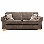 Aprilia High Back 3 Seater – Brown