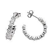 Rhodium-Coated Sterling Silver Hoop Earrings