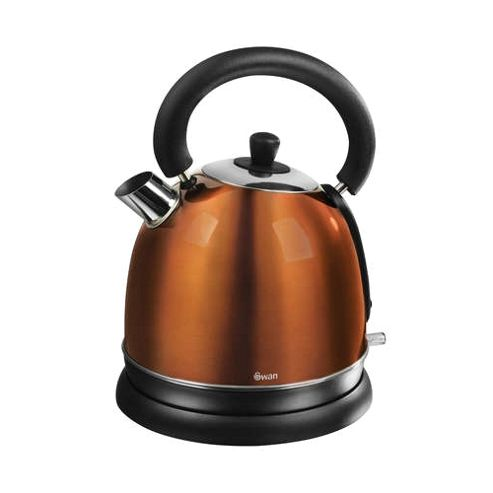 buy swan 1 8 litre copper dome kettle from our traditional. Black Bedroom Furniture Sets. Home Design Ideas