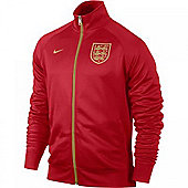 2013-14 England Nike Core Trainer Jacket (Red) - Red