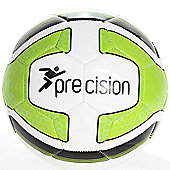 Precision Santos Training Ball White/Lime Green/Black Size 5