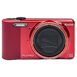 "Kodak Pix Pro FZ151 Digital Camera, Red, 16MP, 15x Optical Zoom 3"" LCD Screen"