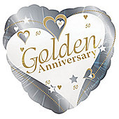 Golden Anniversary 18' Foil Balloon (each)