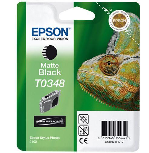 Epson Singlepack Matte Black T0348 Ultra Chrome