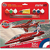 Airfix A55202A Raf Red Arrows Hawk 50Th Display Season Starter Set Model Kit